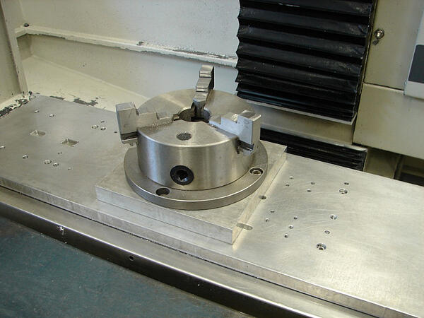 3-Jaw Chuck Pinned to Fixture Plate