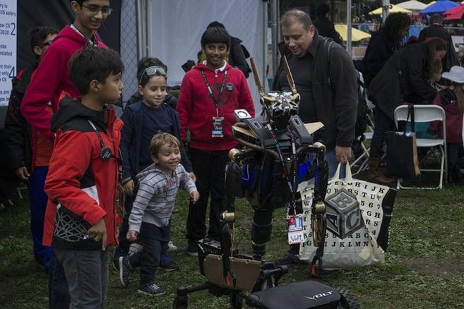 autonomous robots at Maker Faire New York