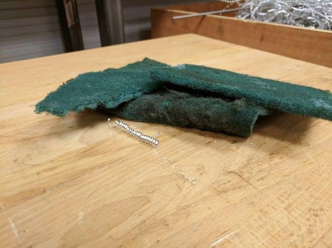 CNC workbench tools abrasive scotch brite