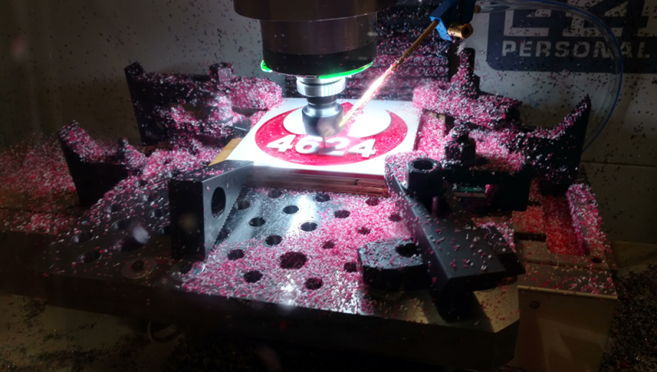 Milling Parts at FIRST Robotics